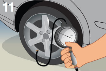 Popis: Keep your tires properly inflated